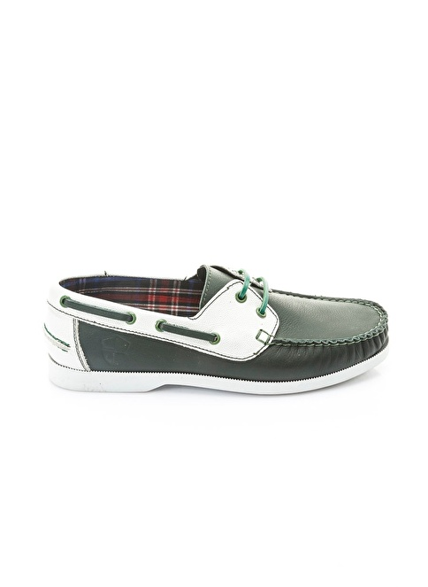 Italian Shoes %100 Deri Casual Ayakkabı Yeşil